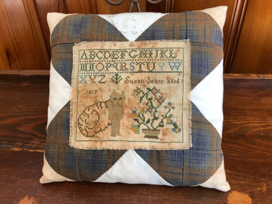 Photo of Brown Cat Sampler Pillow - Finished Good